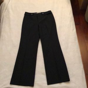 New wool blend dress pants in black